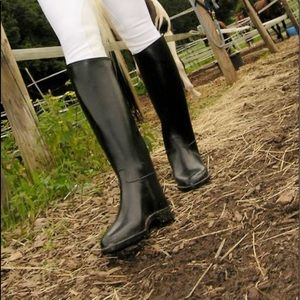 Aigle rubber equestrian boot tall France